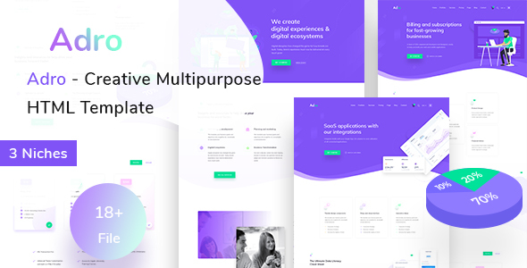 Adro – Multipurpose Creative HTML Template