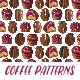 Coffee Watercolor Hand Painted Seamless Patterns - GraphicRiver Item for Sale