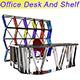 Office Desk And Shelf - 3DOcean Item for Sale