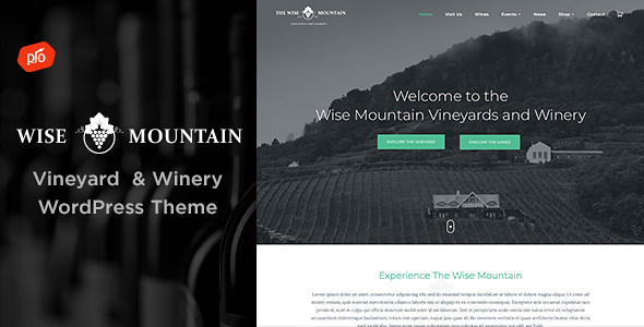 Wise Mountain - Vineyard and Winery Theme