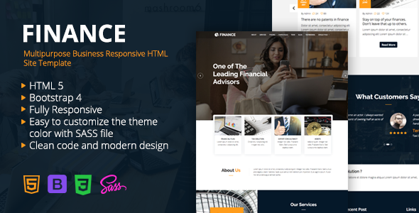 Finance - Multipurpose Business Responsive HTML Site Template