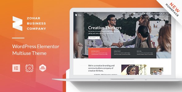 Zohar | Business Consulting WordPress Theme for Elementor