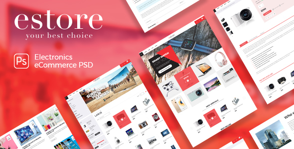 estore - Modern & Beautiful Electronics PSD Template