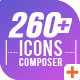 Icons Composer Script / Flat animated icons / Design concepts and backgrounds - VideoHive Item for Sale