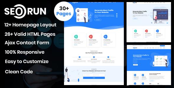 Seorun - SEO & Digital Marketing Agency Template
