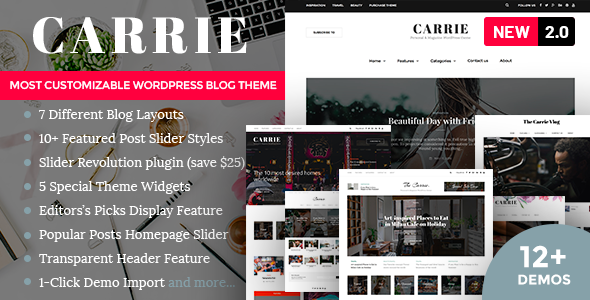 Carrie - Personal & Magazine WordPress Theme
