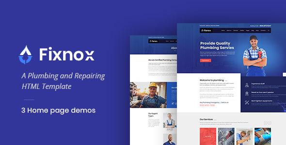 Fixnox - Plumbing HTML Template