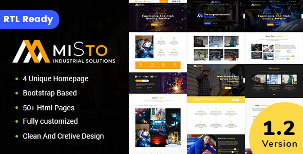 Misto - Factory and Industrial HTML5 Template