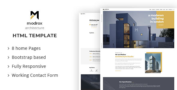 modrox - Architecture And Interior HTML Template