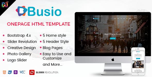 Busio – Multipurpose HTML Template