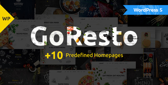GoResto – Multipurpose Restaurant & Table Booking WordPress Theme