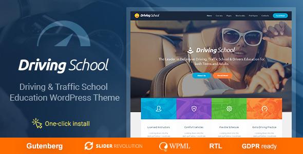 Driving School - Car & Automobile WordPress Theme