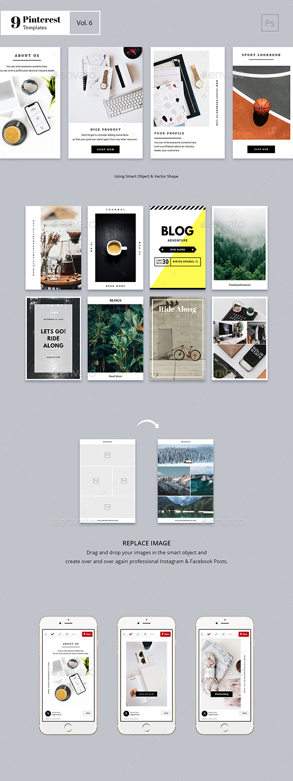 25 Pinterest PSD Graphics, Designs & Templates from GraphicRiver