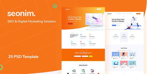 Seonim - SEO & Digital Marketing Agency PSD Template