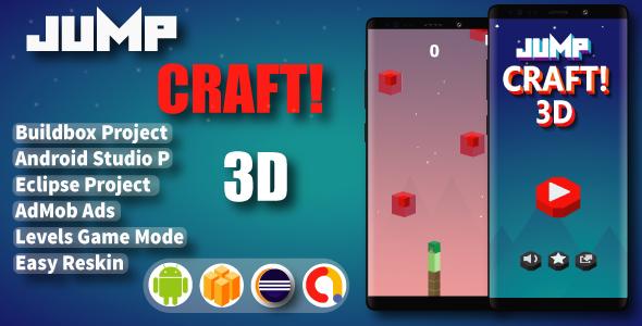 Jump Craft 3D ( BuildBox Project + Admob + Bbdoc )