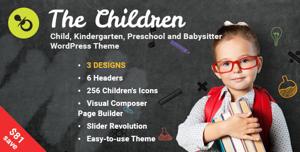 The Children - Kindergarten and Babysitter WordPress Theme