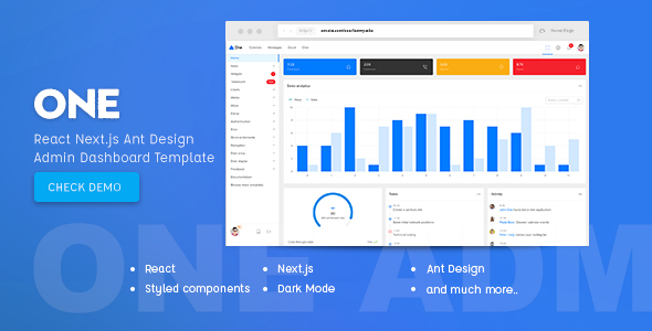 Dashboard React Website Templates from ThemeForest
