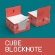 Cube Block Note Mock-Up - GraphicRiver Item for Sale