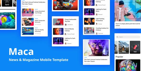 Maca - News & Magazine Mobile Template