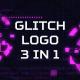 Glitch Logo 3 in 1 - VideoHive Item for Sale