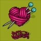Heart of Red Wool Yarn - GraphicRiver Item for Sale