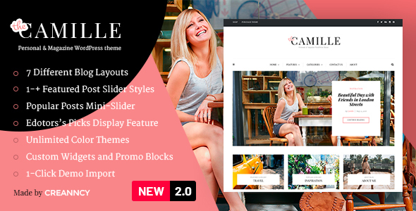 Camille - Personal & Magazine WordPress Theme