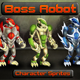 Boss Robot 2D Sprites - GraphicRiver Item for Sale
