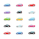 Cars - Color Vector Icons - GraphicRiver Item for Sale