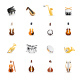 Musical Instruments - Color Vector Icons - GraphicRiver Item for Sale