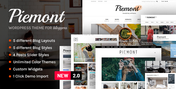 Piemont - Premium Travel & Lifestyle Responsive WordPress Blog Theme