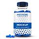 Supplement Glass Bottle+Capsule Mock-Up-5 - GraphicRiver Item for Sale