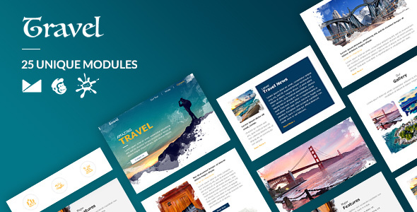 Travel Email-Template + Online Builder