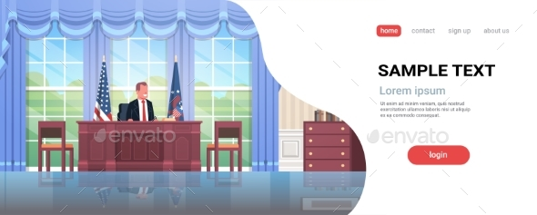 President Sitting Workplace Wooden Furniture USA