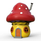 Cartoon house mushroom - 3DOcean Item for Sale
