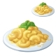 Macaroni and Cheese Isolated on White Background - GraphicRiver Item for Sale