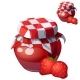 Strawberry Jam Cartoon Vector Icon - GraphicRiver Item for Sale