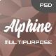 Alphine - Personal Portfolio & Resume PSD Template - ThemeForest Item for Sale