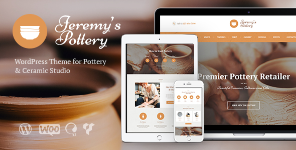 Pottery and Ceramics Handmade WordPress Theme