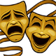 Gold Comedy and Tragedy Theater Masks - GraphicRiver Item for Sale