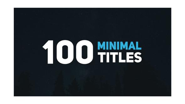 100 Minimal Titles