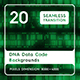 20 Dna Data Code Backgrounds - 3DOcean Item for Sale