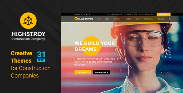 HIGSTROY | Construction & Architecture PSD Template