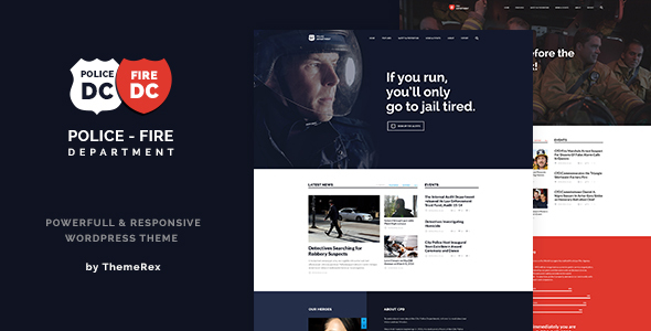 Police & Fire Department and Security Business WordPress Theme
