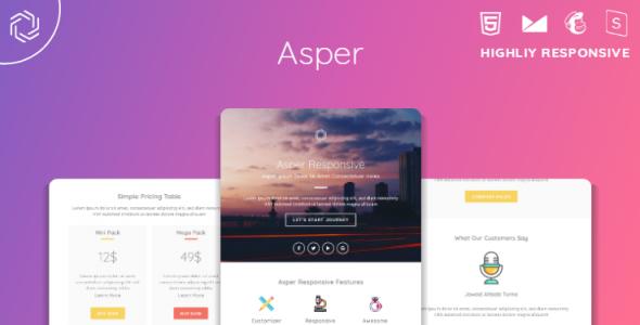 Asper Responsive Multipurpose Email Template