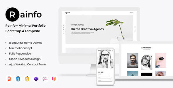 Creative Portfolio, Personal Portfolio, Designer Portfolio for Portfolio and Agencies - Rainfo