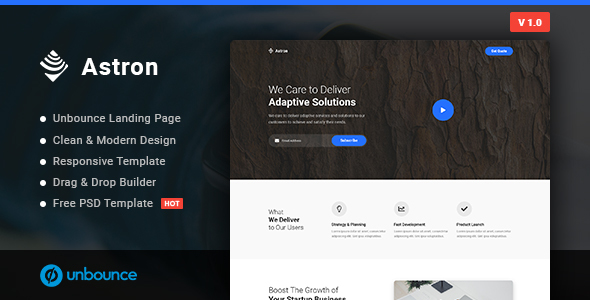 Astron - Business Unbounce Landing Page Template