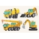 Set of Building Machines - GraphicRiver Item for Sale
