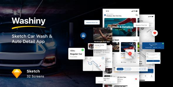 Washiny - Sketch Car Wash & Auto Detail App