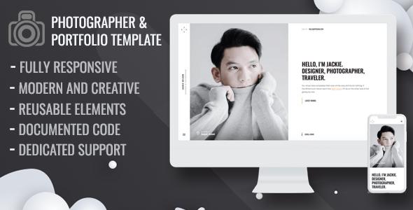 Maron - Personal Portfolio Template - Crack Theme - Download