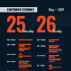 Conference Schedule Poster Template - GraphicRiver Item for Sale